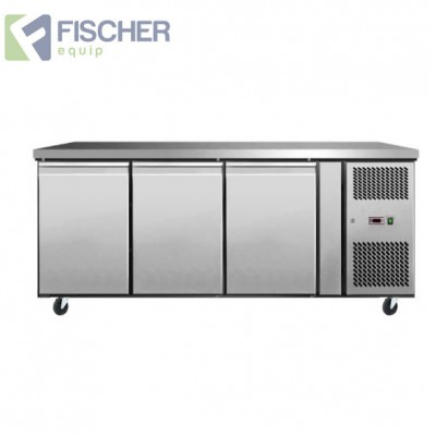 3 Door Bench Fridge - EBC03-SS