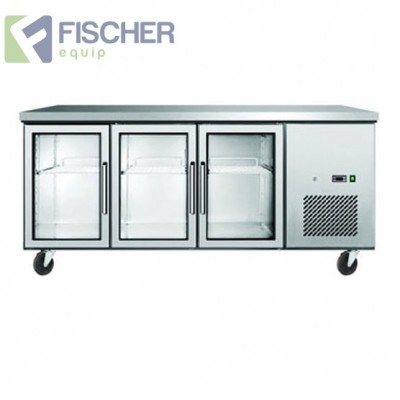 3 Glass Door Bench Fridge - EBC03-GL