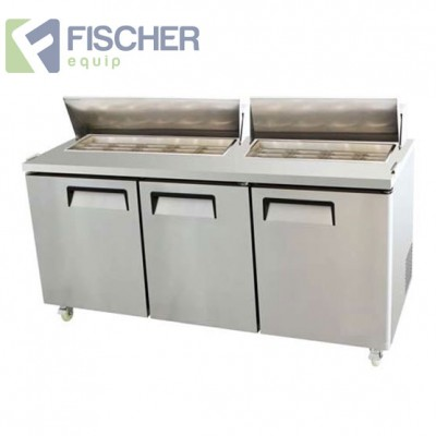 Three Door Sandwich Fridge - USS03-SS
