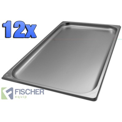 1/1 Gastronorm Tray 20mm - 12 Pack
