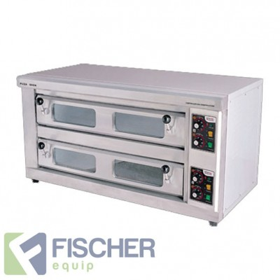 Fischer Stone Based Pizza Oven - Double Deck - DDPO-40