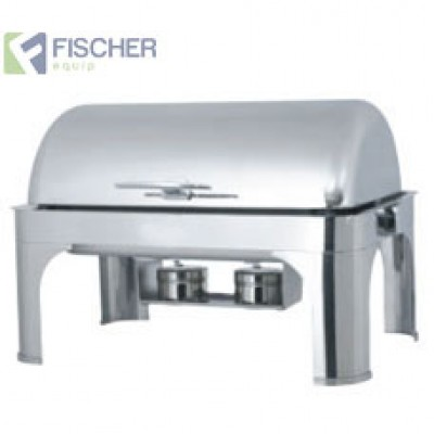 Fischer Luxury Stainless Steel Bain Marie Roll-Top Chafer -  Including Heating Element