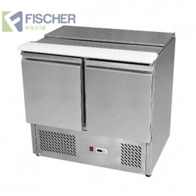 2 Door Saladette Prep Fridge - ES02-00