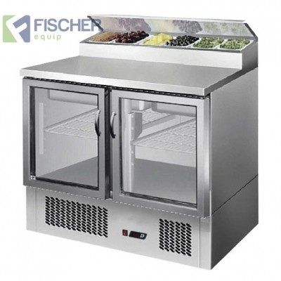 2 Door Saladette Prep Fridge - ES02-69-GL