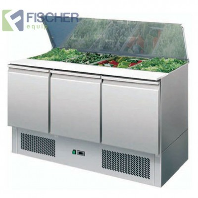 3 Door Saladette Prep Fridge - ES03-00