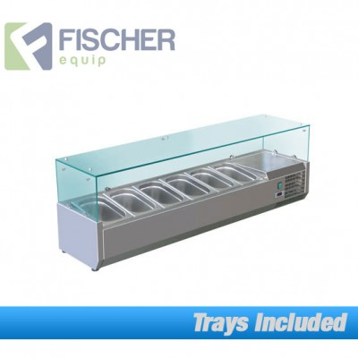 Fischer Cold Bain Marie, 6 x 1/3 GN Trays Included VRX-1400T