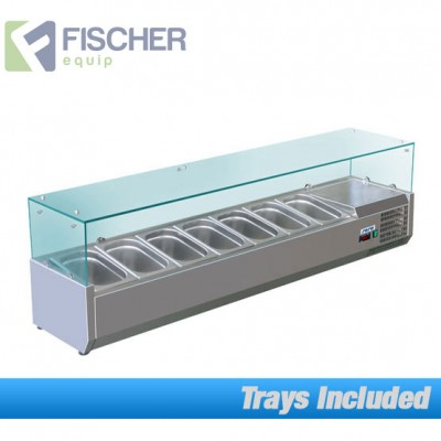 Fischer Cold Bain Marie, 7 x 1/3 GN Trays Included VRX-1600T