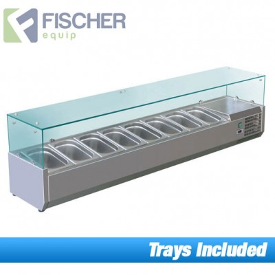 Fischer Cold Bain Marie, 8 x 1/3 GN Trays Included VRX-1800T