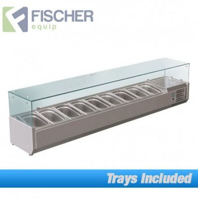 Fischer Cold Bain Marie, 9 x 1/3 GN Trays Included VRX-2000T