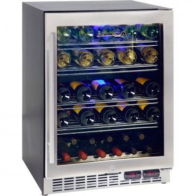 Wine Refrigerator With Two Zones For White And Red Wines
