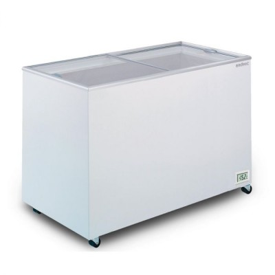 Bromic Flat Top Glass Chest Freezer - 401L - CF0400FTFG