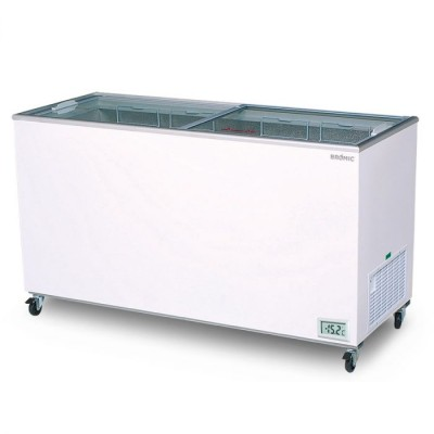 Bromic Flat Top Glass Chest Freezer - 491L - CF0500FTFG