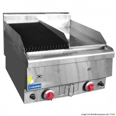 GASMAX Benchtop Griddle & Chargrill