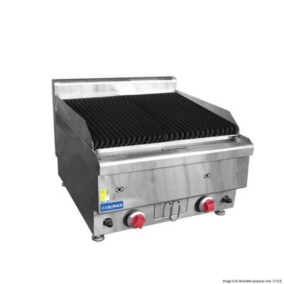 GASMAX Benchtop Two Burner Chargrill - 600mm