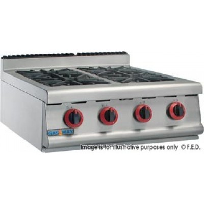 GASMAX Benchtop Four Gas Burner Top