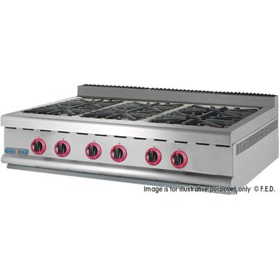 GASMAX Benchtop Six Gas Burner