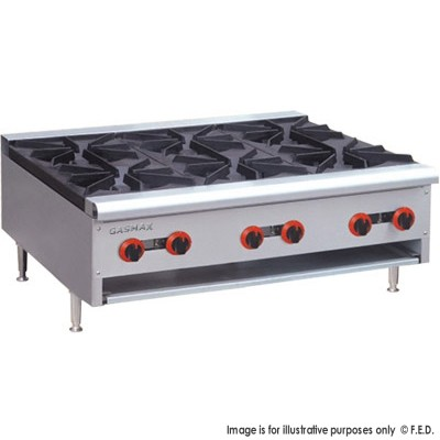 GASMAX Benchtop Six Burner Hob with Flame Failure