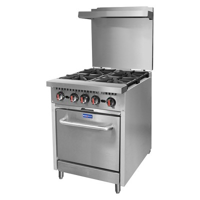 Four Burner Oven With Shelf, Flame Failure FBOS-FF
