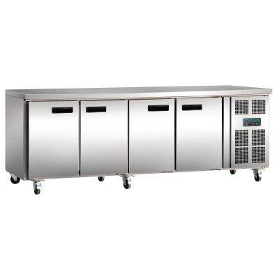 Polar 4 Door Counter Fridge 553L Stainless Steel